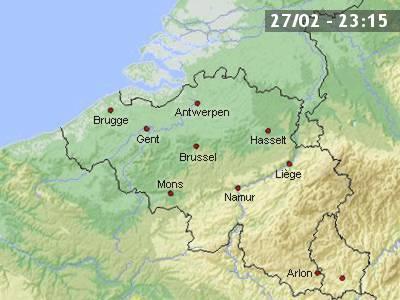 Carte Belgique Mons.Meteo En Belgique Et Previsions Meteo A 10 Jours Skynet Be